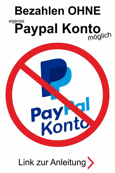 Kein Paypal Konto nötig